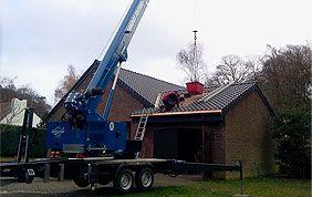 Grue rénovation de toit