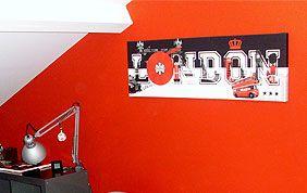 fresque murale chambre à coucher