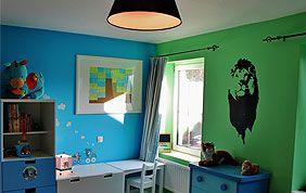 Murs de chambre à couché colorés