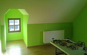 Chambre d'enfant vert pomme