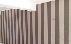 Mur peinture bandes verticales