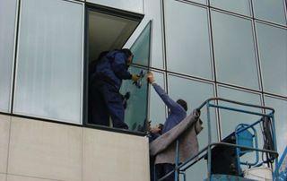placement de vitres en hauteur