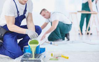 équipe de peintres en bâtiment