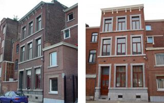 rénovation de façade à Liège