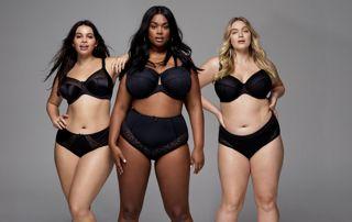 Lingerie noire femmes grandes tailles