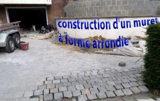 construction d'un muret à forme arrondie