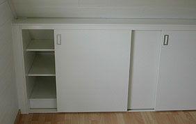 meuble de rangement avec portes coulissantes