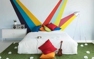 peinture décorative chambre