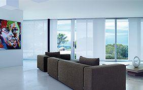 panneaux japonais blancs sur baie vitrée