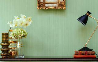 papier peint intissé vert