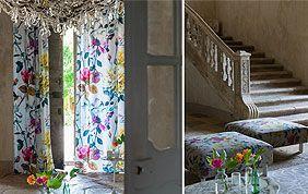tissus pour rideaux et coussins