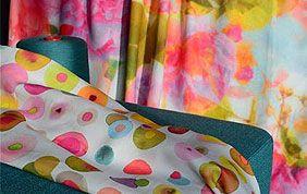 tissu pour rideaux à motifs