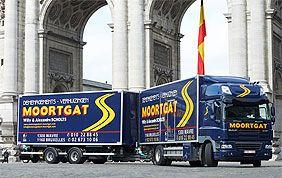 flotte de camions Moortgat au Cinquantenaire à Bruxelles