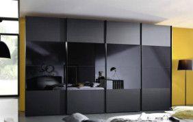 Meuble de rangement de salon noir brillant