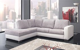 Canapé d'angle en tissu