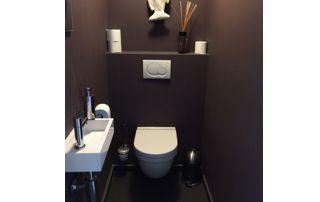 peinture brun chocolat toilette