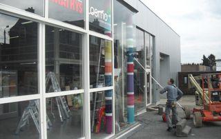 nettoyage vitrine magasin