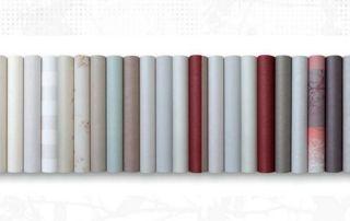 assortiment de rouleaux de papiers peints