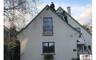 travaux sur toiture inclinée