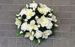 Bouquet de roses blanches