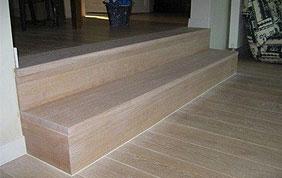 parquet bois massif sur escalier