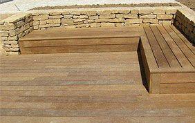terrasse et escalier en teck