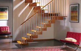 Escalier suspendu sans contremarche