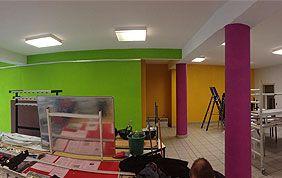 peinture murale plusieurs couleurs