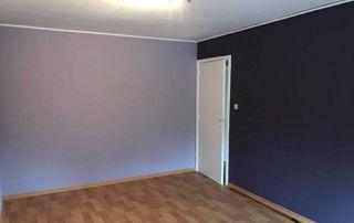 Peinture mur intérieur bicolore chambre à coucher