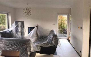 Travaux peinture mur intérieur salon