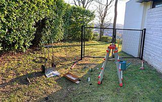 installation clôture en métal