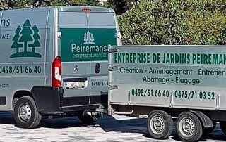 camionnette Peiremans élagueur à Bruxelles