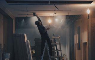 rénovation électricité et pose de faux plafond