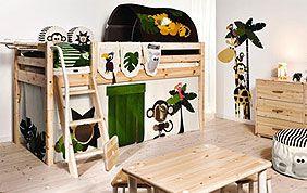 chambre enfant bois jungle