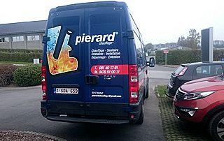 camionnette chauffagiste Pierard à Dinant