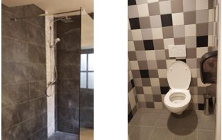 installation douche et WC