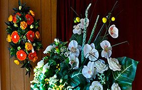 montage fleurs funérailles