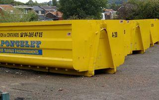 grands conteneurs jaunes pour déchets de tous types