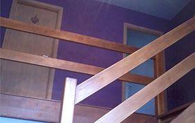 peinture intérieure cage d'escalier