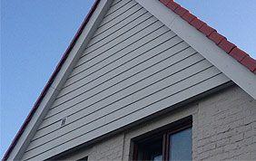 bardage bois sur toit incliné