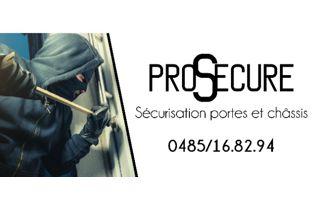 Prosecure pour la sécurisation de portes et châssis