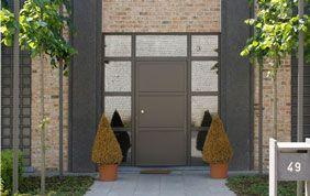 Porte d'entrée immeuble