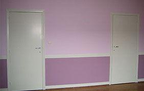 Mur bicolore mauve