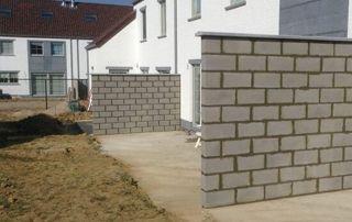 construction muret extérieur