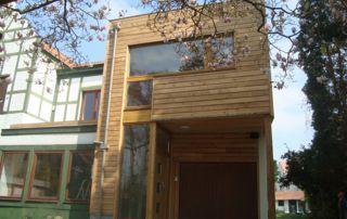 bardage en bois sur rénovation