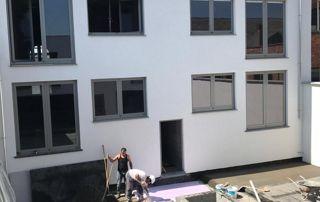 Placement châssis dans une nouvelle construction