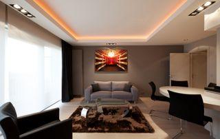 salon design avec espace bureau