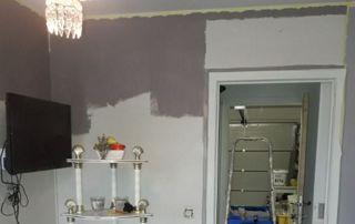 Travaux de peinture intérieure salon