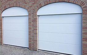 double porte sectionnelle PVC blanc