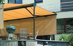 tente anti UV sur terrasse